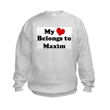 My Heart: Maxim Kids Sweatshirt