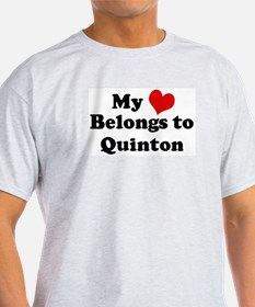 My Heart: Quinton Ash Grey T-Shirt