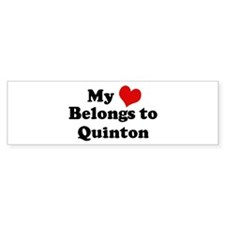 My Heart: Quinton Bumper Bumper Sticker