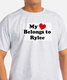 My Heart: Rylee Ash Grey T-Shirt