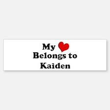 My Heart: Kaiden Bumper Bumper Bumper Sticker