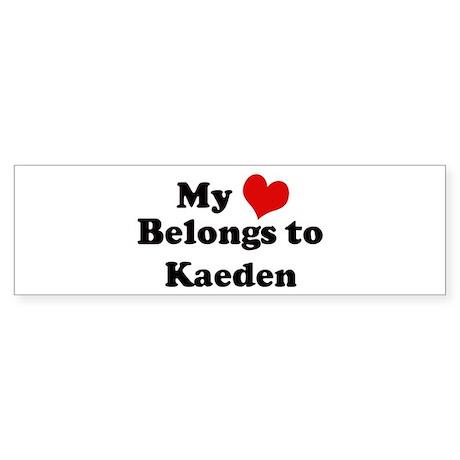My Heart: Kaeden Bumper Sticker