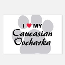 Love My Caucasian Ovcharka Postcards (Package of 8