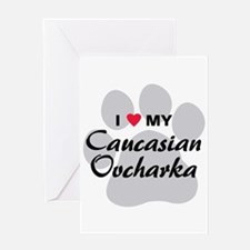 Love My Caucasian Ovcharka Greeting Card
