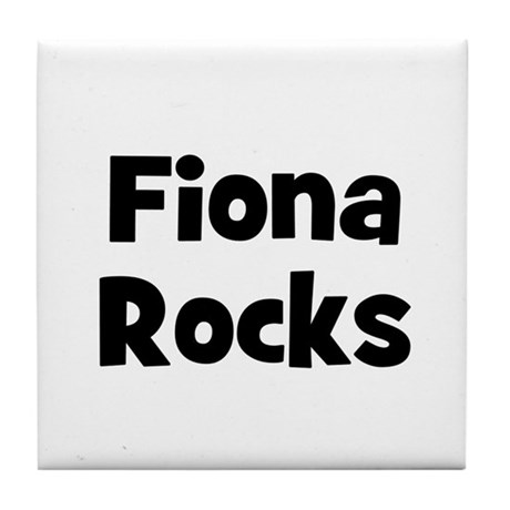 Fiona Rocks Tile Coaster
