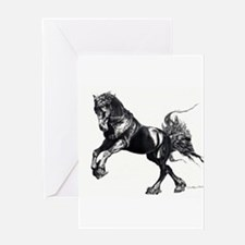 Keegan, Friesian Stallion Greeting Card