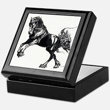 Keegan, Friesian Stallion Keepsake Box