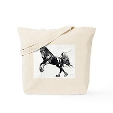 Keegan, Friesian Stallion Tote Bag