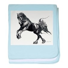 Keegan, Friesian Stallion baby blanket