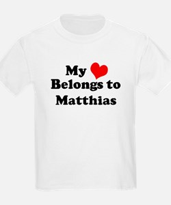 My Heart: Matthias Kids T-Shirt