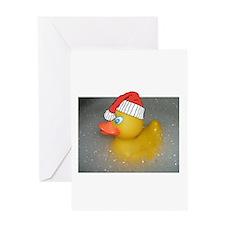 Cute Christmas bath Greeting Card