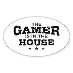 Funny Gamer Sticker (Oval)