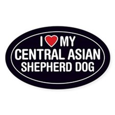 Love Central Asian Shepherd Dog Oval Sticker/Decal