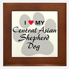 Central Asian Shepherd Dog Framed Tile