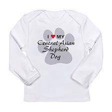 Central Asian Shepherd Dog Long Sleeve Infant T-Sh