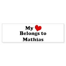 My Heart: Mathias Bumper Bumper Sticker