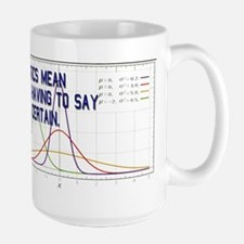 Statistics Means Uncertainty Large Mug