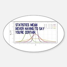 Statistics Means Uncertainty Decal