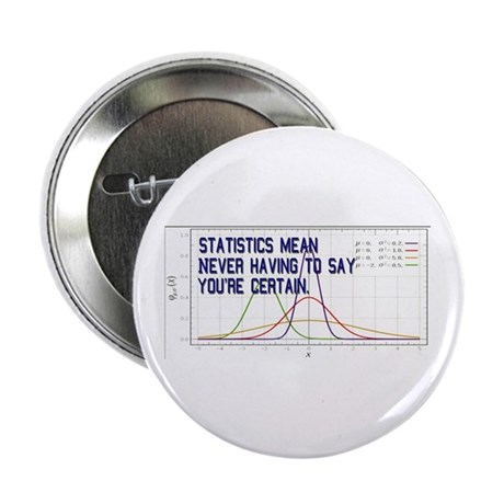 "Statistics Means Uncertainty 2.25"" Button (100 pac"