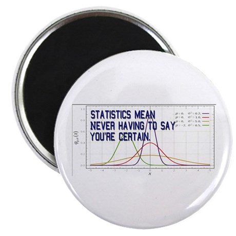 """Statistics Means Uncertainty 2.25"""" Magnet (10 pack"""