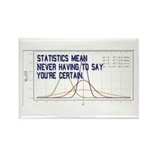 Statistics Means Uncertainty Rectangle Magnet (10