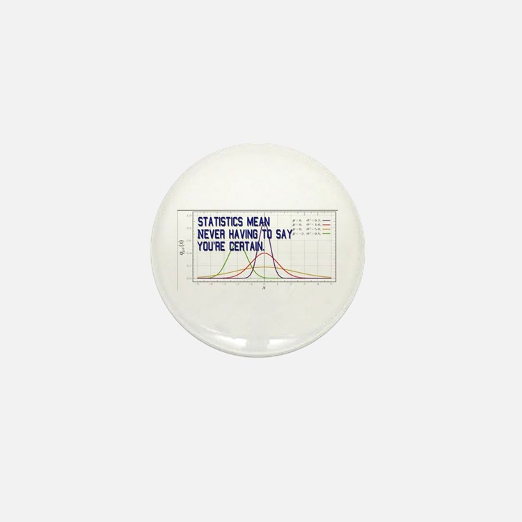Statistics Means Uncertainty Mini Button (10 pack)
