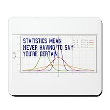 Statistics Means Uncertainty Mousepad