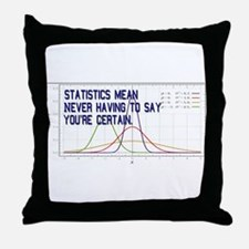 Statistics Means Uncertainty Throw Pillow