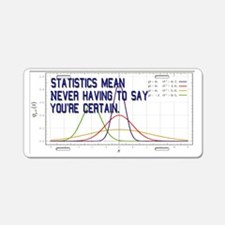 Statistics Means Uncertainty Aluminum License Plat