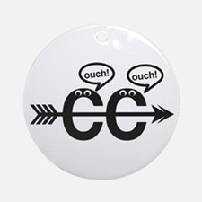 Cross Country - Ouch! Ornament (Round)