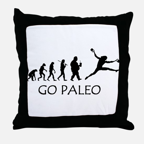 Cute Paleo Throw Pillow
