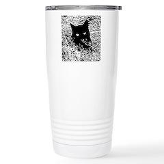 Cat in the Grass Travel Mug