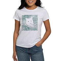 White Cat in Bluegrass Women's T-Shirt