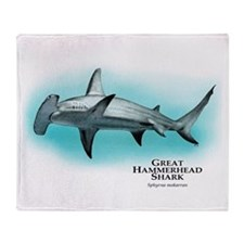 Great Hammerhead Shark Throw Blanket