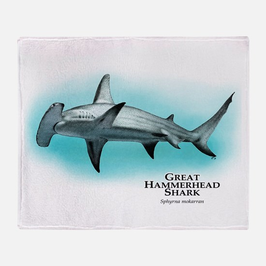 Great Hammerhead Shark Throw Blanket