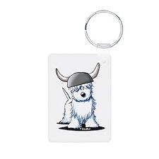 Viking Westie Terrier Keychains