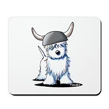 Viking Westie Terrier Mousepad