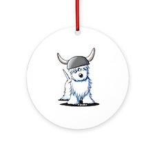Viking Westie Terrier Ornament (Round)