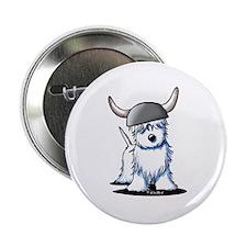 """Viking Westie Terrier 2.25"""" Button"""