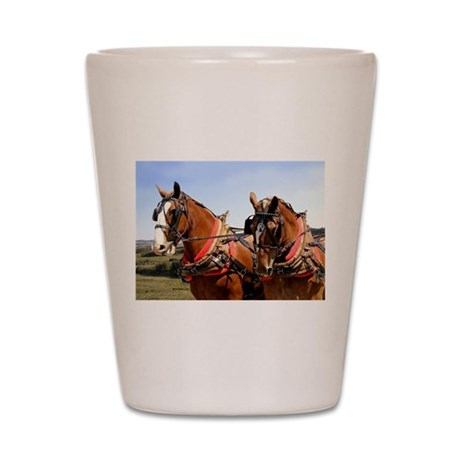 Belgian Horse Shot Glass