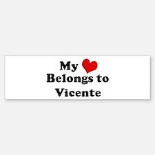 My Heart: Vicente Bumper Bumper Bumper Sticker