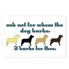 Ask Not for Barking Postcards (Package of 8)