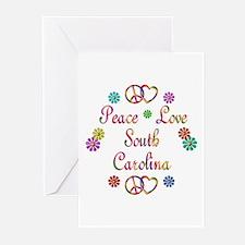 Peace Love South Carolina Greeting Cards (Pk of 10