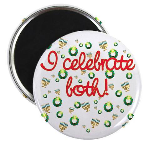 "Hanukkah AND Christmas 2.25"" Magnet (10 pack)"