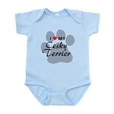 I Love My Cesky Terrier Infant Bodysuit