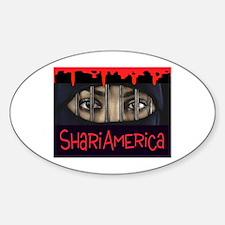 NOT IN AMERICA Sticker (Oval)