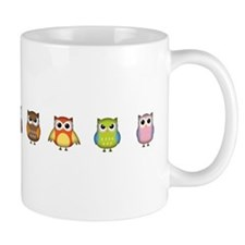 Cute and Colorful Owls Small Mugs