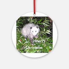 Opossum Cherry Tree Ornament (Round)