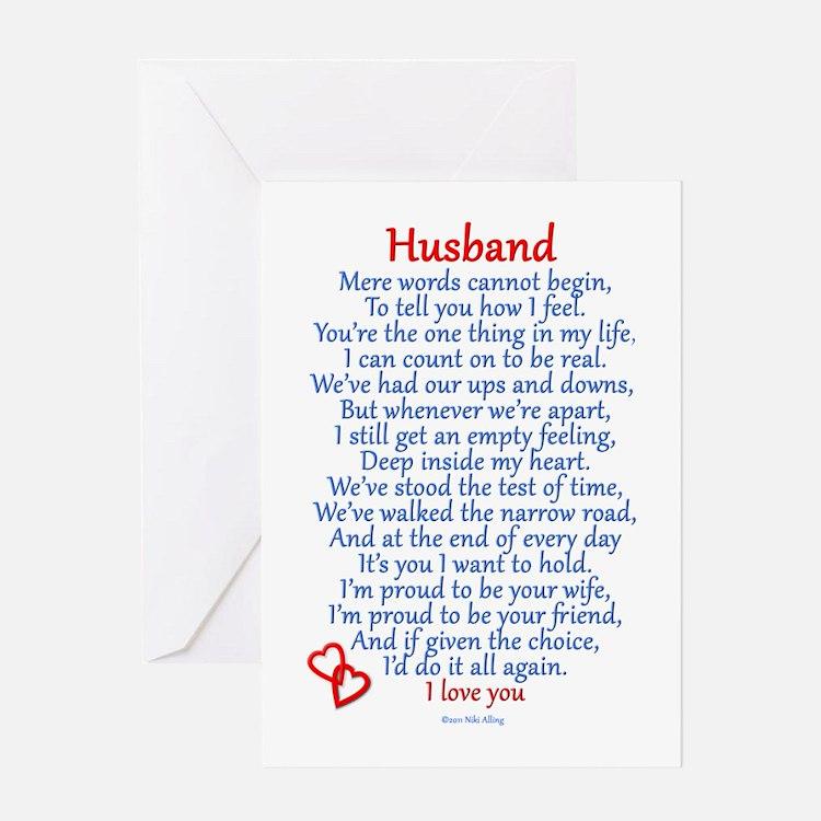 Husband Love Greeting Card