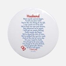 Husband Love Ornament (Round)